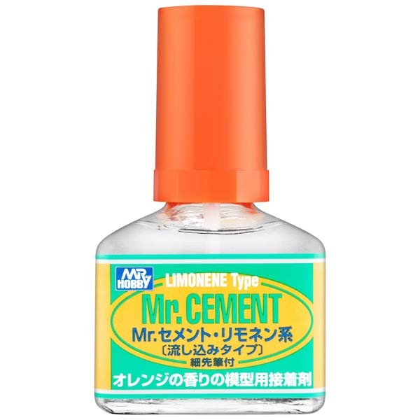 Mr Hobby Mr.Cement Limonene Type for Plastic Model 40ml [MC130]