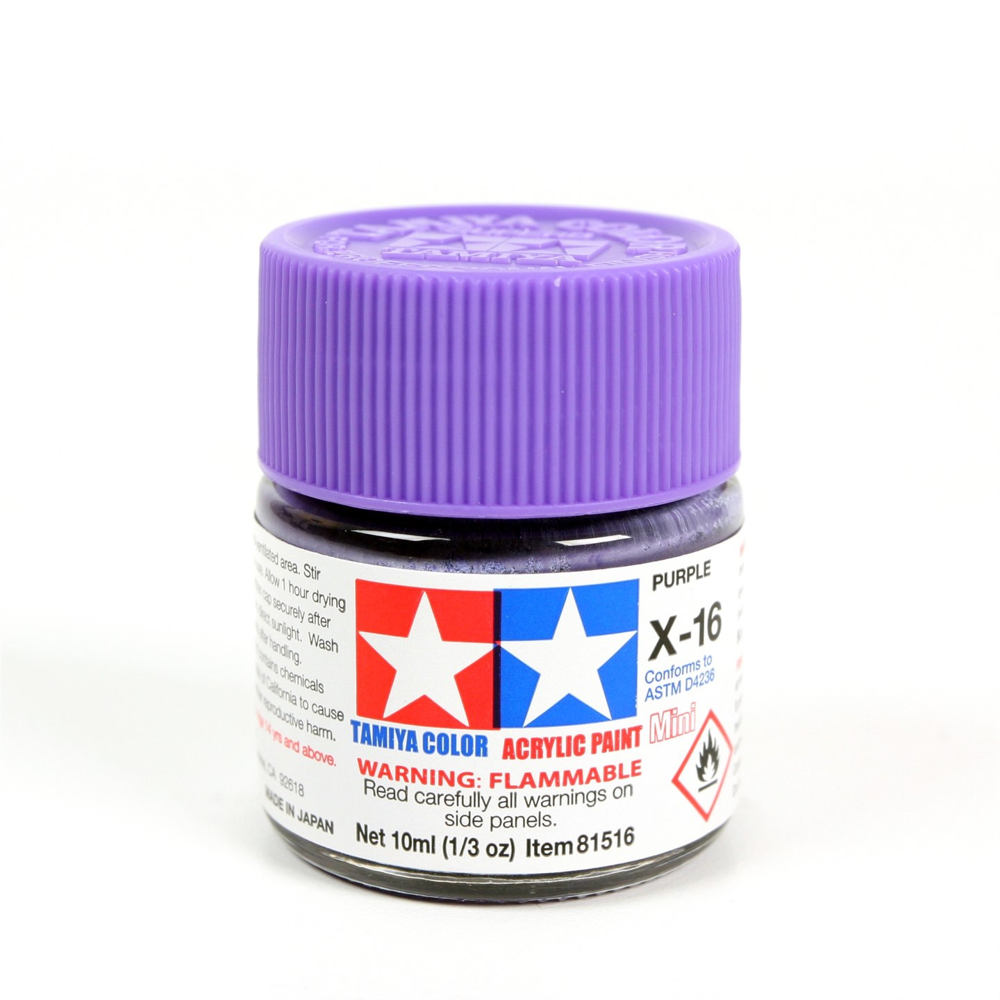 Tamiya Color Acrylic Paint Mini X-16 (Purple) (10ml)