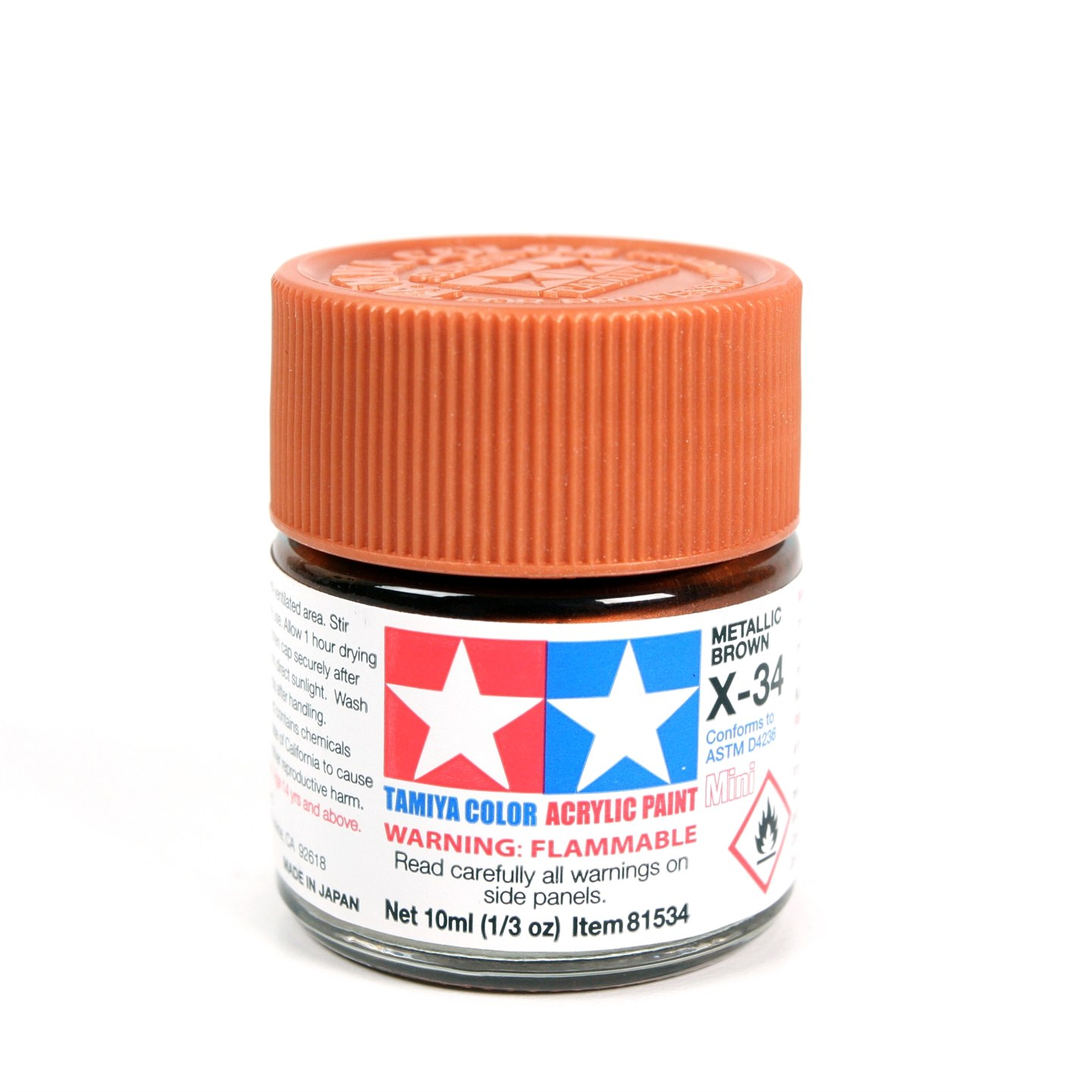 Tamiya Color Acrylic Paint Mini X-34 (Metallic Brown) (10ml)