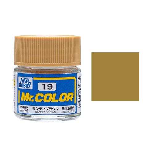 Mr. Hobby-Mr. Color-C019 Sandy Brown Semi-Gloss (10ml)
