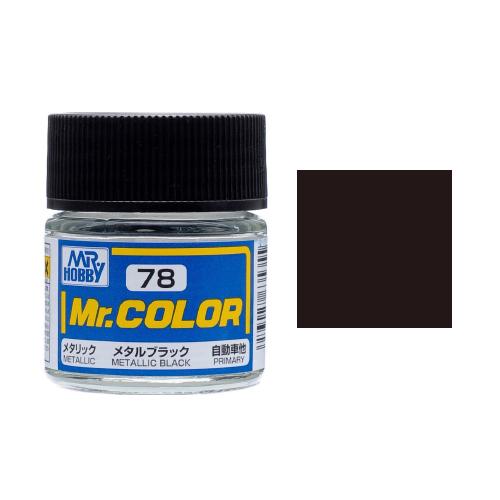Mr. Hobby-Mr. Color-C078 Metallic Black (10ml)