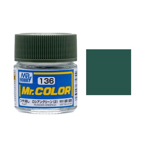 Mr. Hobby-Mr. Color-C136 Russian Green (2) Flat (10ml)
