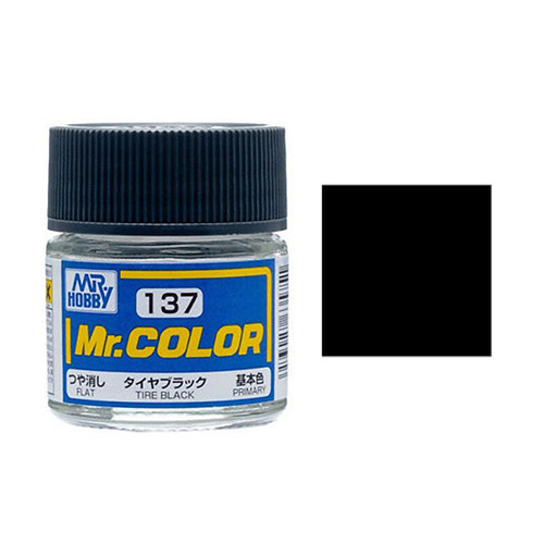 Mr. Hobby-Mr. Color-C137 Tire Black Flat (10ml)