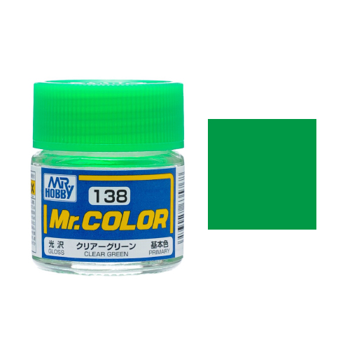 Mr. Hobby-Mr. Color-C138 Clear Green Gloss (10ml)