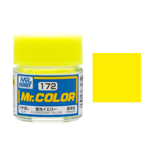 Mr. Hobby-Mr. Color-C172 Fluorescent Yellow Flat (10ml)