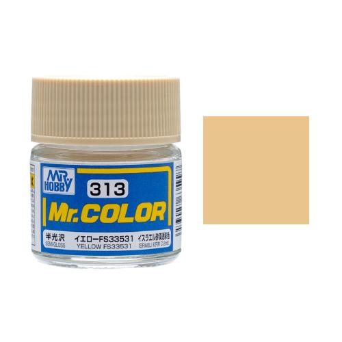 Mr. Hobby-Mr. Color-C313 Yellow FS33531 Semi-Gloss (10ml)