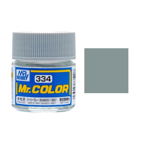 Mr. Hobby-Mr. Color-C334 Barley Gray BS4800/18B21 Semi-Gloss (10ml)