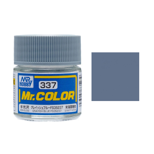 Mr. Hobby-Mr. Color-C337 Grayish Blue FS35237 Semi-Gloss (10ml)