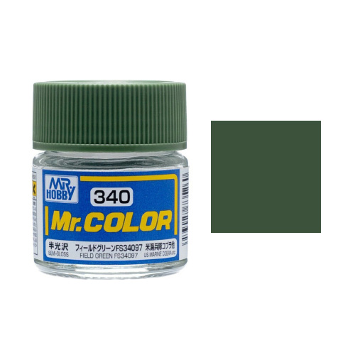 Mr. Hobby-Mr. Color-C340 Field Green FS34097 Semi-Gloss (10ml)