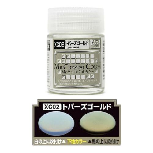 Mr. Hobby-MR.CRYSTAL COLOR-XC02 Topaz Gold  (18ml)