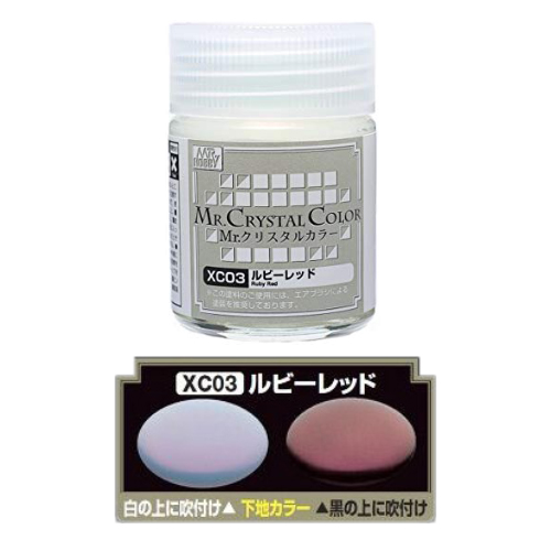 Mr. Hobby-MR.CRYSTAL COLOR-XC03 Ruby Red (18ml)