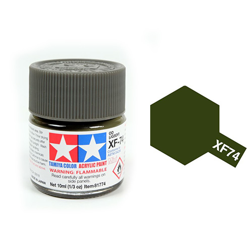 Tamiya Color Acrylic Paint XF-74 Olive Drab (10ml)