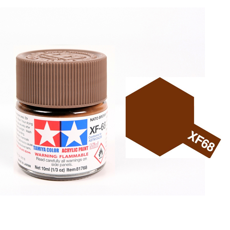 Tamiya Color Acrylic Paint XF-68 Nato Brown (10ml)