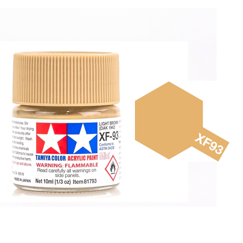 Tamiya Color Acrylic Paint XF-93 Light Brown (10ml)