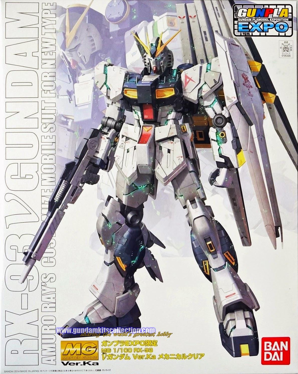 EXPO MG 1/100 RX-93 Nu Gundam Ver.Ka (Mechanical Clear Version) with Real Kawaguchi Signature