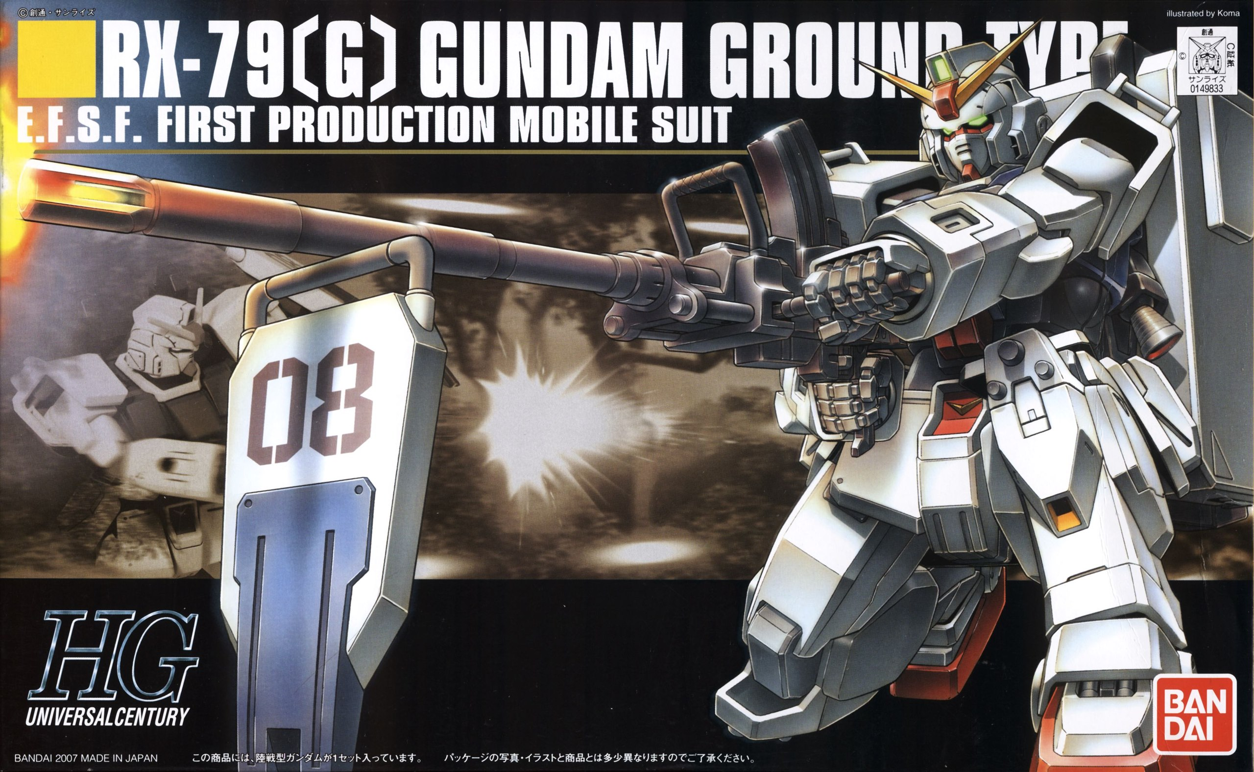 G Gundam Ground Type GUNPLA HG High Grade 1//144 The 08th MS Team BANDAI RX-79
