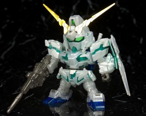 SDBB Unicorn Gundam Green Frame Cinema Limited Pearl Clear Ver.