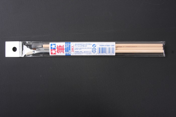 Tamiya Modelling Brush Basic Set [3 Brush 1 Set]