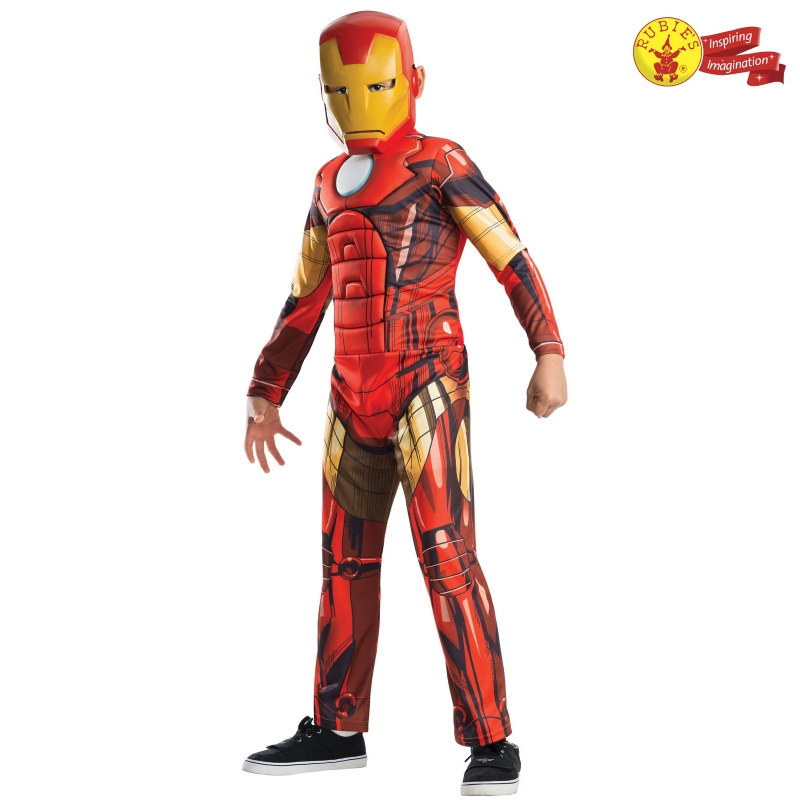 Rubies Kid Costume: Avengers Age Of Ultron H/S Iron Man - M Size