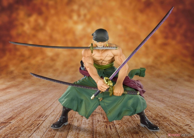 Details about  /new One Piece Roronoa Zoro Extreme Tiger Hunting Three Swords FIgure 22CM no box