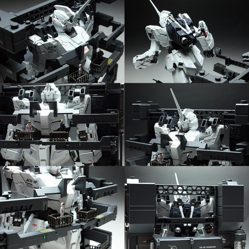 MG 1/100 RX-0 Unicorn Gundam HD Color +MS CAGE