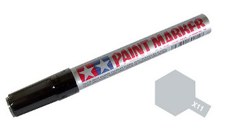 TAMIYA Gundam Marker - X-11 SILVER CHROME COLOR PEN