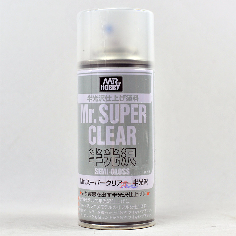 [B516] (MR HOBBY) Mr.SUPER CLEAR SEMI GLOSS SPRAY (170ml)