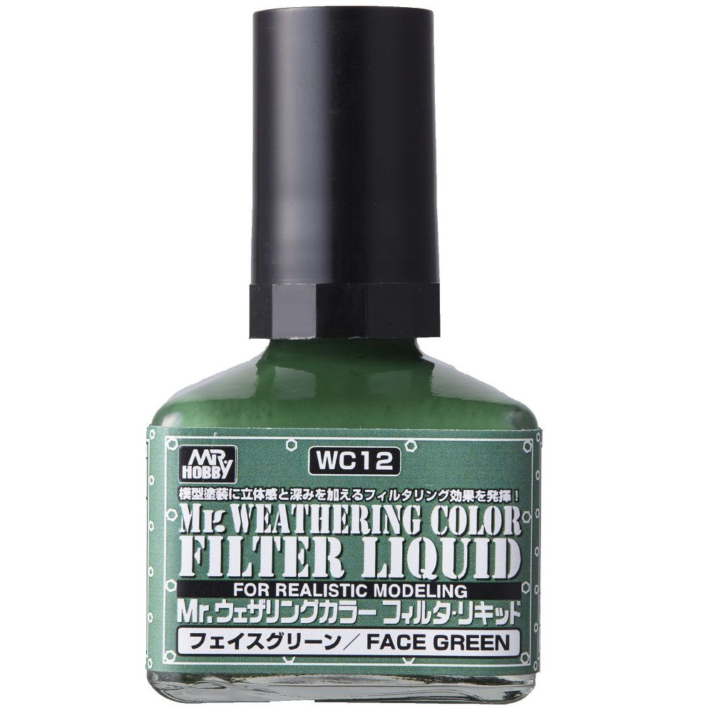 Mr Hobby - MR.Weathering Color Filter Liquid Face Green