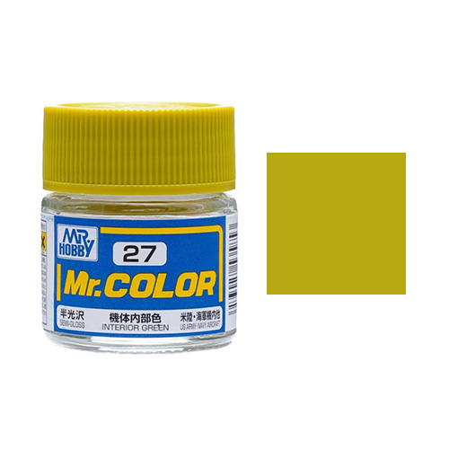Mr. Hobby-Mr. Color-C027 Interior Green Semi-Gloss (10ml)