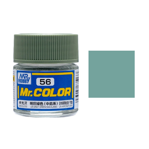 Mr. Hobby-Mr. Color-C056 IJN Gray Green (Nakajima) Semi-Gloss (10ml)