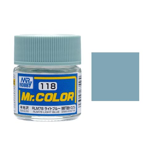 Mr. Hobby-Mr. Color-C118 RLM78 Light Blue Semi-Gloss (10ml)