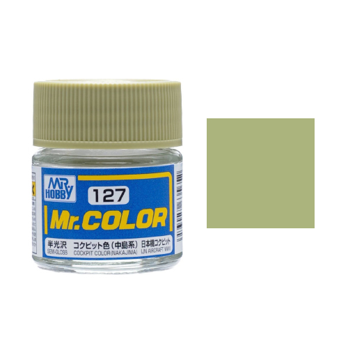 Mr. Hobby-Mr. Color-C127 Cockpit Color (Nakajima) Semi-Gloss (10ml)