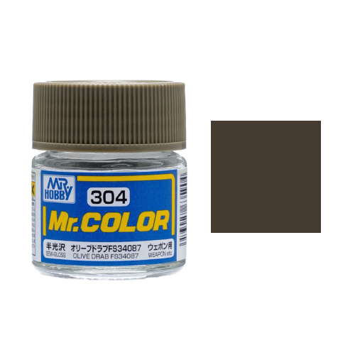 Mr. Hobby-Mr. Color-C304 Olive Drab FS34087 Semi-Gloss (10ml)