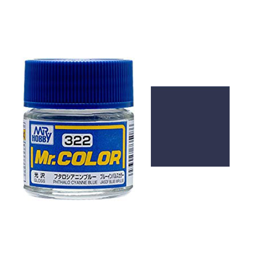 Mr. Hobby-Mr. Color-C322 Phthalo Cyanne Blue Gloss (10ml)