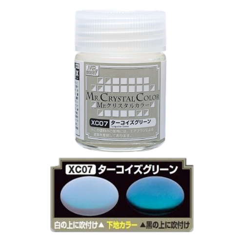 Mr. Hobby-MR.CRYSTAL COLOR-XC07 Turquoise Green (18ml)