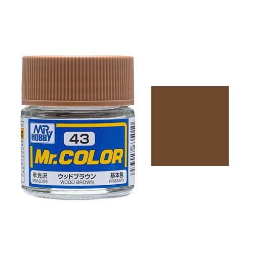 Mr. Hobby-Mr. Color-C043 Wood Brown Semi-Gloss (10ml)