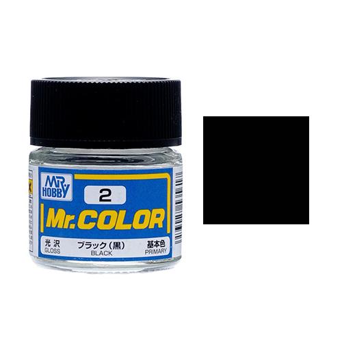 Mr. Hobby-Mr. Color-C002 Black Gloss (10ml)