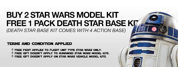 BUY 2 STAR WARS MODEL KIT FREE 1 PACK DEATH STAR BASE KIT