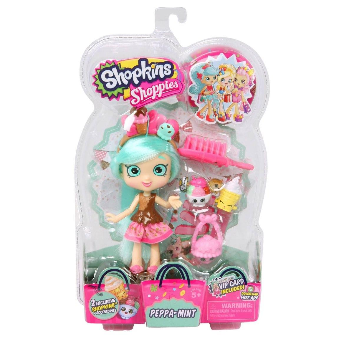 [Moose] Shopkins Shoppies Dolls Single Pack - Peppa-Mint