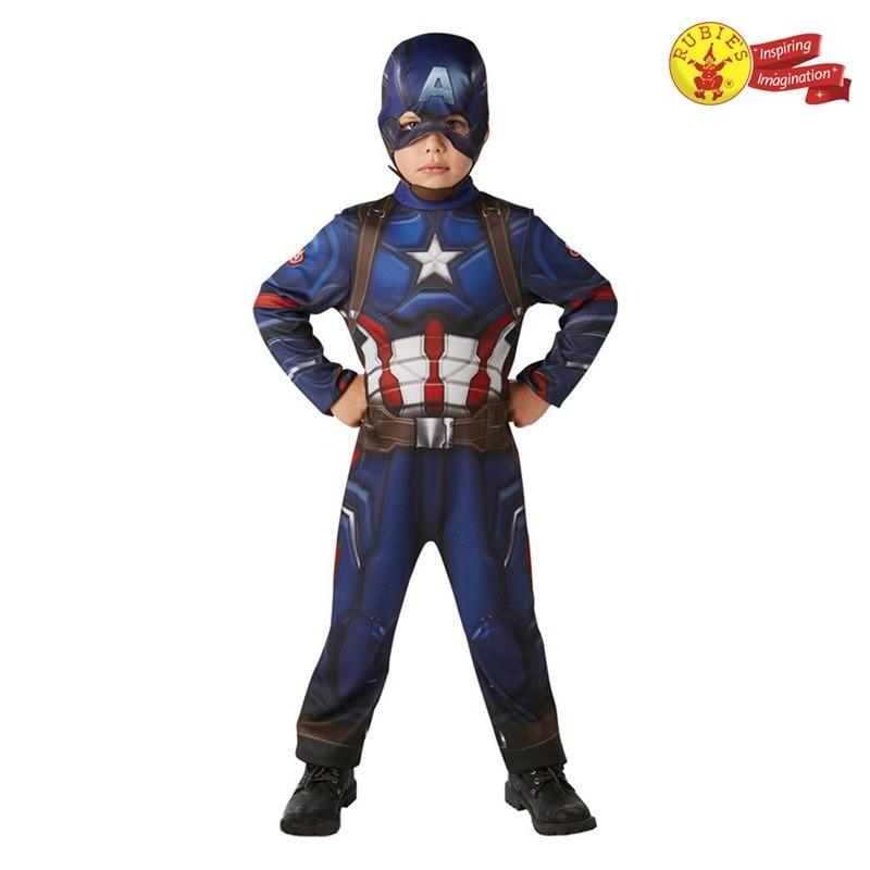Rubies Kid Costume: Captain America Classic Costume - M