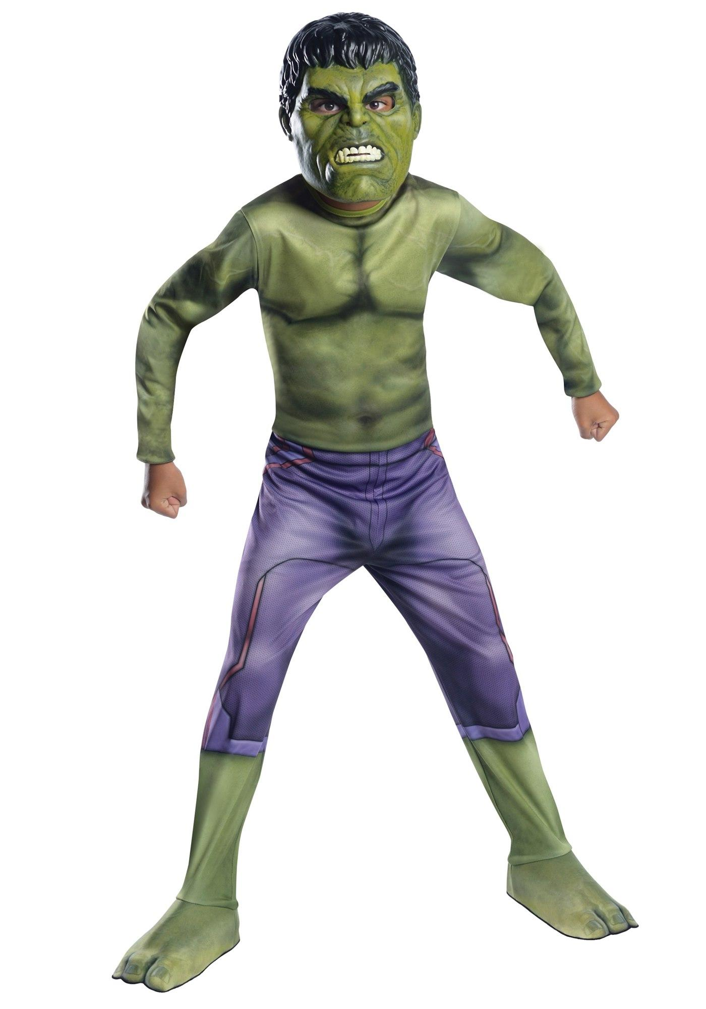 Rubies Kid Costume: Avengers Age of Ultron H/S Hulk