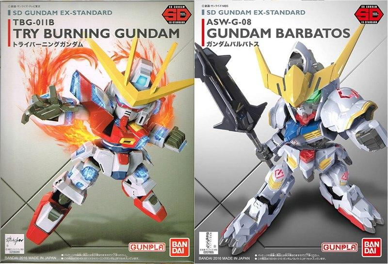 SD Ex-Standard 2 in 1 (Gundam Barbatos, Try Burning Gundam)