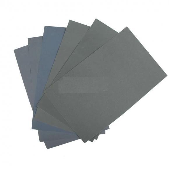 Finishing Abrasive Sanding Paper  Pack- P400, P600, P800, P1000, P1500  (each 1 piece, total 5 pieces)