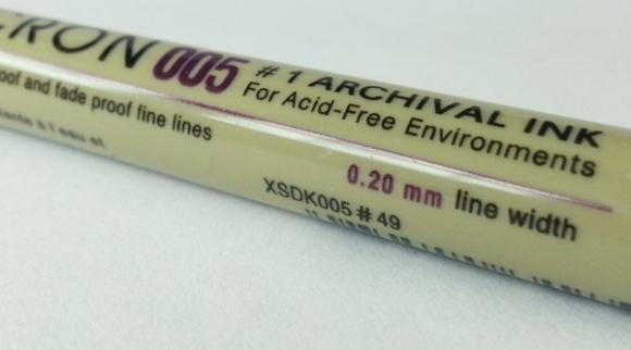 Pigma Micron 005 ( fine point pen 0.2mm Black)