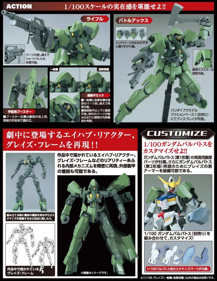 [Iron Blooded Orphans 02] Graze (Standard Type/Commander Type) (1/100)