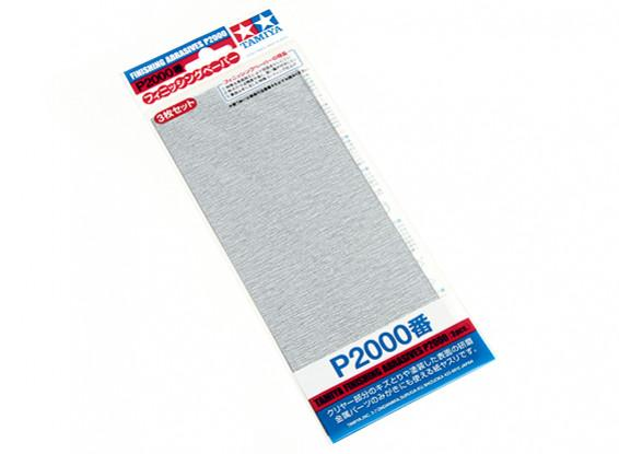 Tamiya Finishing Abrasives P2000 (3pcs)