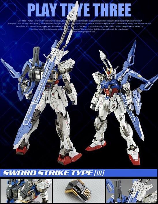 [Dragon Momoko] MG Aile Strike Gundam - Sword Strike Weaponary Pack 2.0