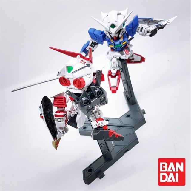 BANDAI Model Kit ACTION BASE mini for SD, HG, 1/144 - 2 Packets (4 Units) (GREY)