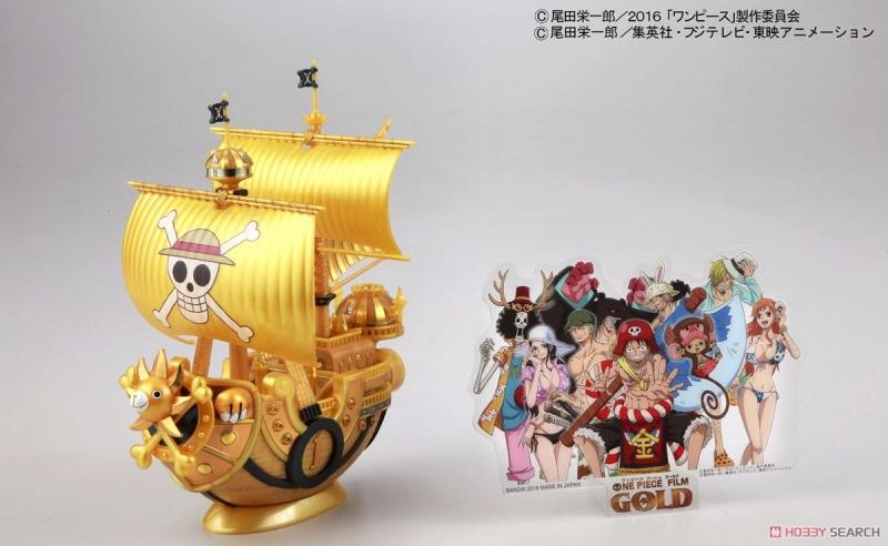 ONE PIECE Thousand Sunny `Film Gold` Release Anniversary Color Ver. (Plastic model)
