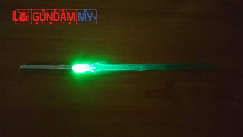 Metal Light Saber (with LED) for MG 1/100